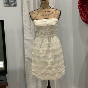 J. Crew white strapless dress size 6